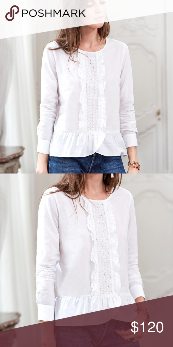 51dfe82fac28ab Sezane Diana Blouse On the fence about selling this since it's a bit large  for me