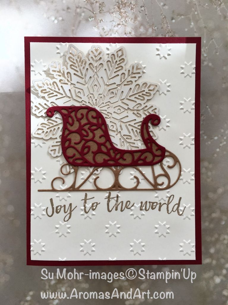 Quick and Easy Christmas Card Joy - Aromas and Art