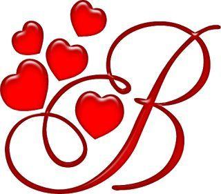 Alfabeto rojo con corazones. | Letras o niños | Pinterest | Html