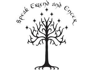 Speak Friend \u0026 Enter A Door Decoration from How to Decorate a Lord of the Rings Themed Kids Room   SciFi \u0026 Fantasy   Pinterest   Kids rooms ...  sc 1 st  Pinterest & Speak Friend \u0026 Enter: A Door Decoration from How to Decorate a Lord ...