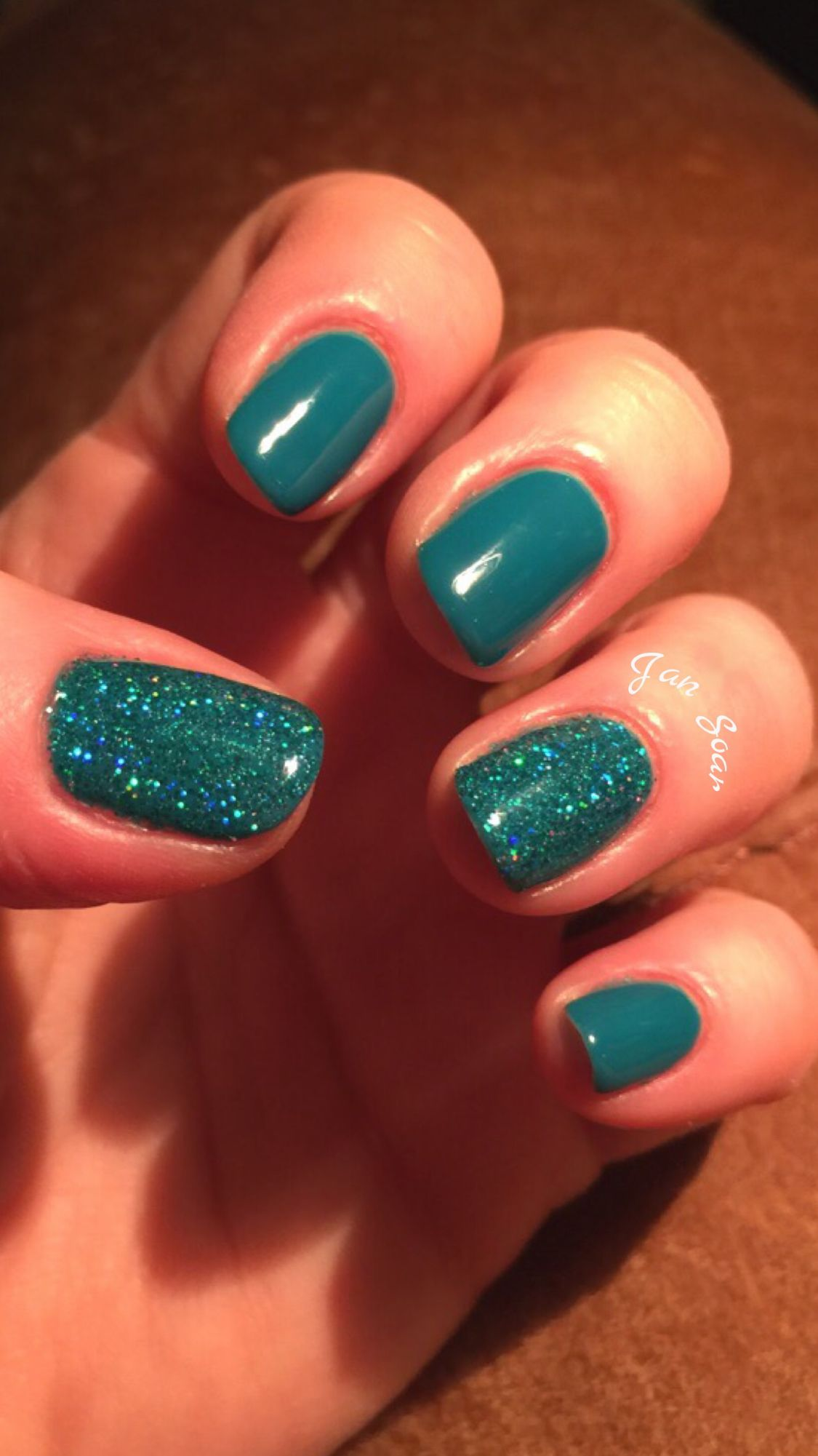 Game nail color workshop - Gelish Garden Teal Party By Jan Soar Nail Harmony Uk