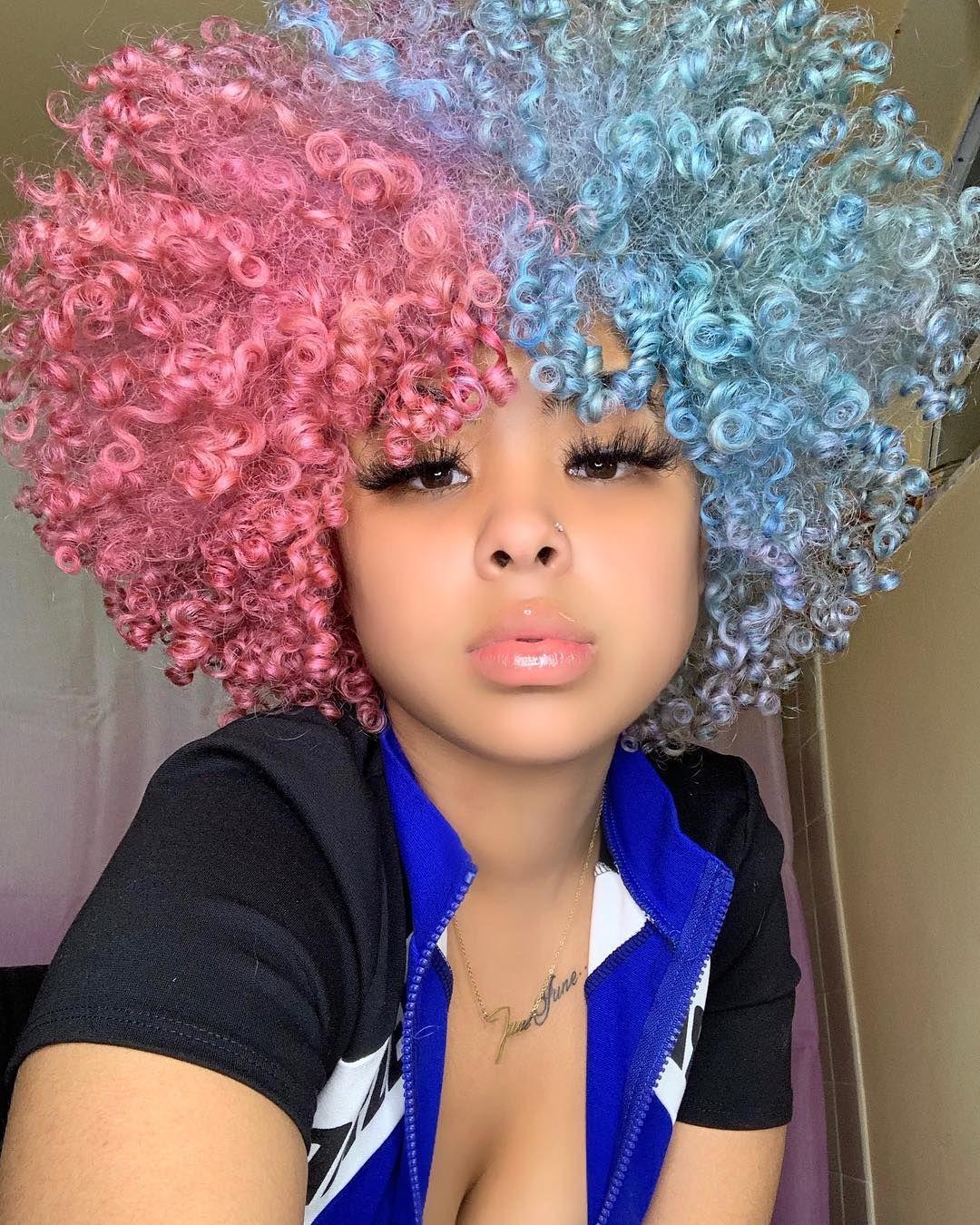Rassstta On Instagram Cotton Candy Baby Hair Styles Curly Hair Styles Colored Curly Hair