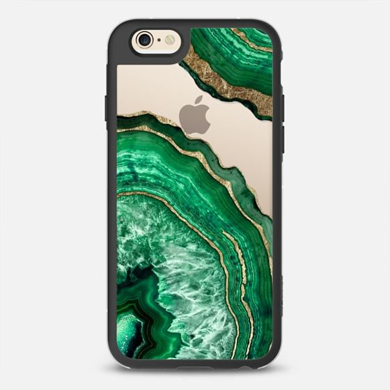 Jade Green Faux Gold Rustic Abstract