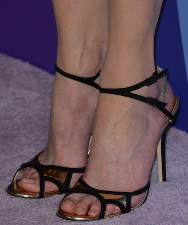 Nicole Kidman in black-and-gold Christian Louboutin 'Rumba' sandals from Jimmy Choo