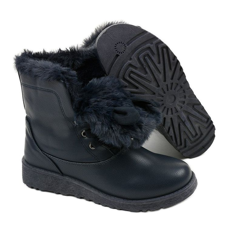 Granatowe Ocieplane Traperki Alrindra In 2020 Chukka Boots Boots Winter Boot