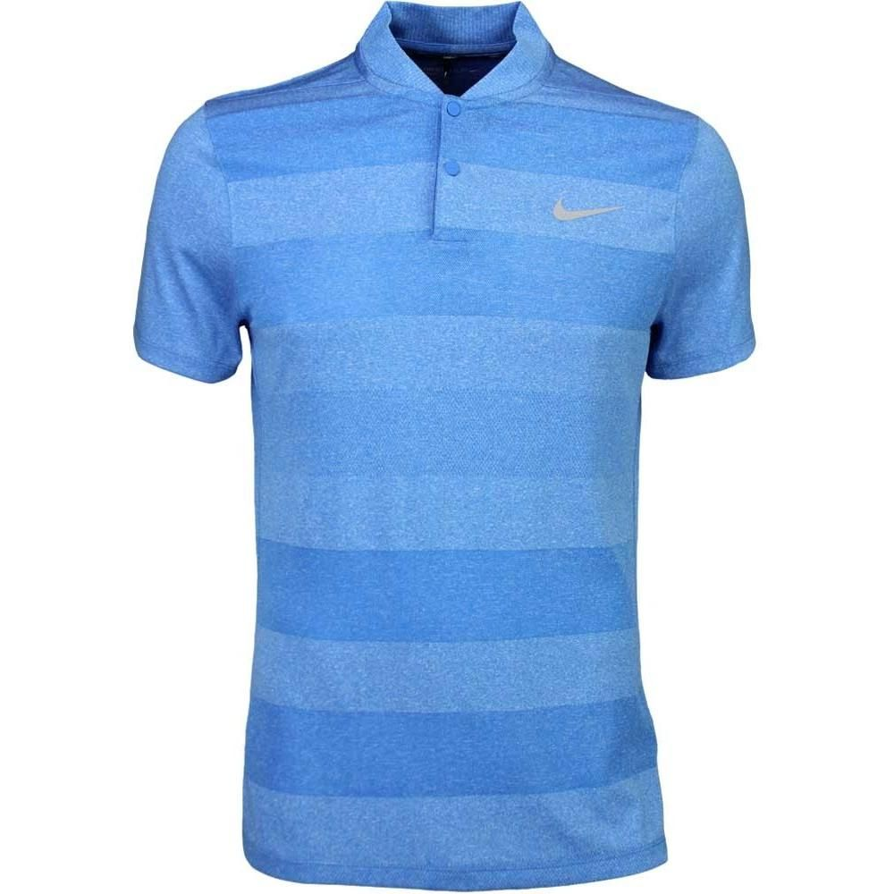 Nike MM Fly Blade Stripe Golf Polo in Photo Blue as seen on Niall Horan