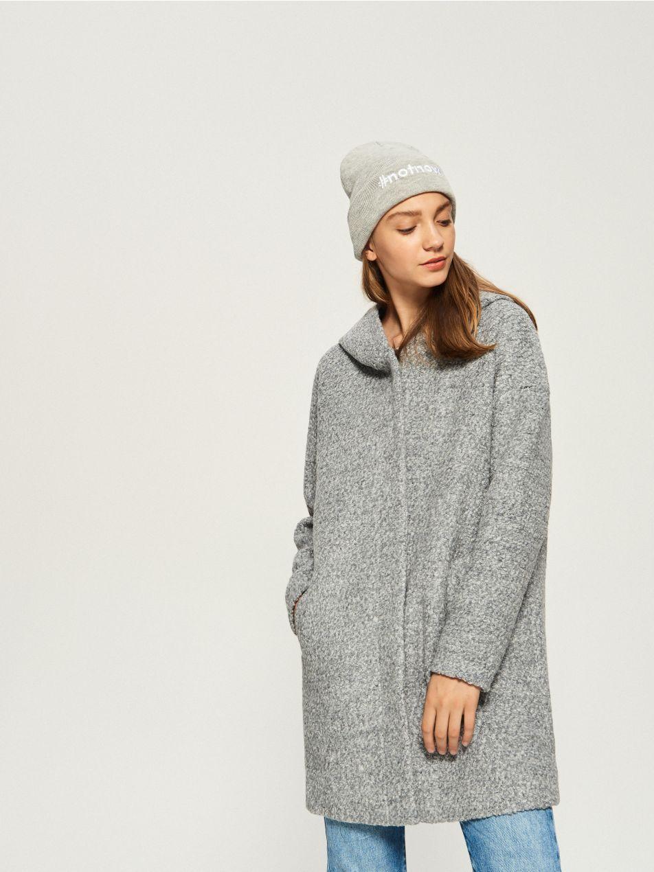 Vlnený kabát - šedá - TJ286-90M - Sinsay - 1  9f34a817a7
