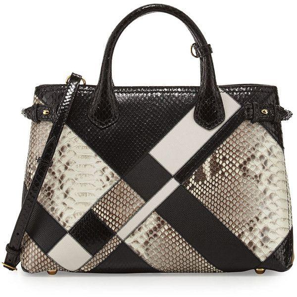 0df50e802b Burberry Banner Medium Patchwork Python Tote Bag ( 4