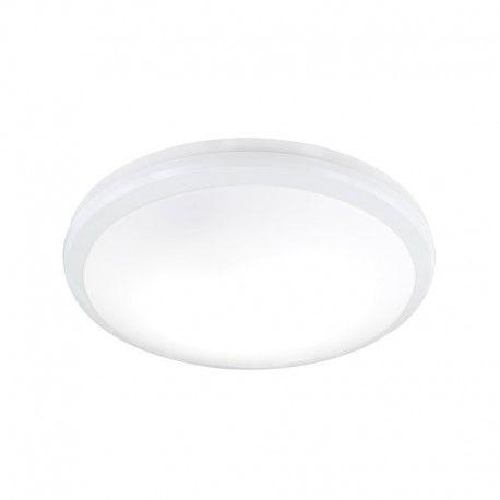 Lampara De Techo Plafon Iluminacion Led Cuerpo En Plastico Gris Decoracion En Plastico Blanco Con Sensor De Movimiento Lamparas De Techo Led Lampara