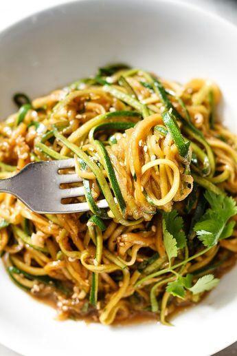 Teriyaki Zucchini Noodles #zucchininoodles