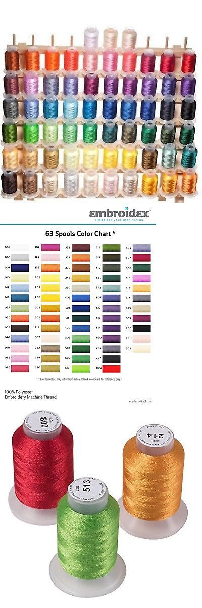 Machine Bobbins And Thread 83920 63 Brother Colors Embroidery