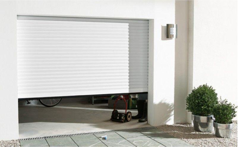 Porte de garage enroulable aluminium Kiev 1 blanc pas cher L240 x h
