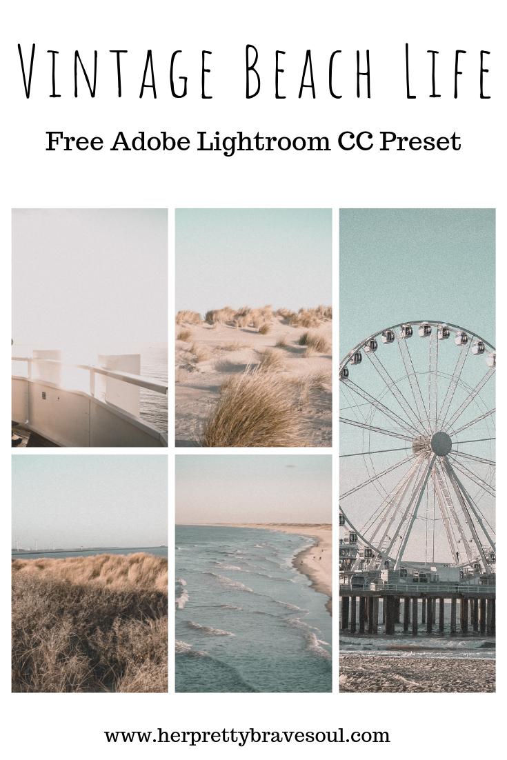 Free Vintage Beach Life Lightroom Preset Vintage Lightroom Presets Lightroom Presets Free Adobe Lightroom Photo Editing