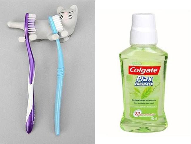 Important Products That Must Have A Place In Your Bathroom Shelf Bare Essentials Toothbrush Toothpaste And Mouthwash Toothpaste Brushing Teeth Mouthwash