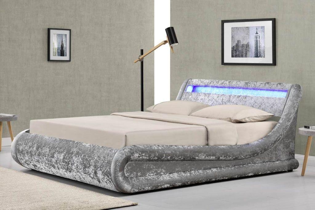 Shop Reign Velvet Bed Cushy Channels Of Plush Grey Velvet Give