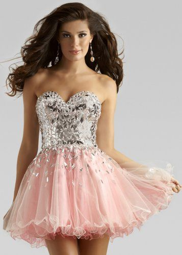 19e17f27e79 Pink Short Sparkly Sequin Top Cheap Homecoming Dress