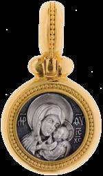 Икона Божией Матери «Касперовская» 3,8г. ручная работа ...