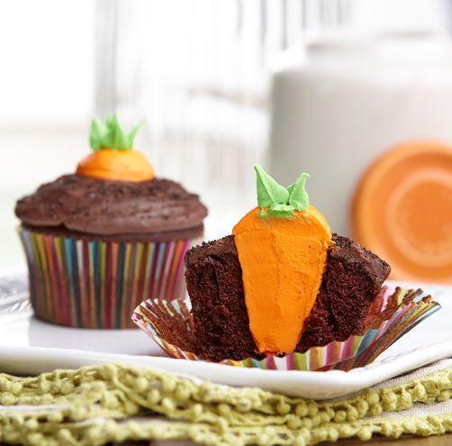 Bunny?s Carrot Garden Easter Cupcakes