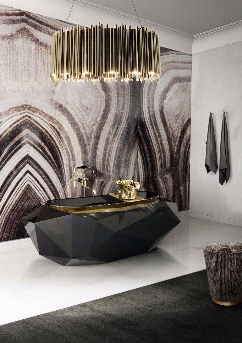 Glorreiche Hauptbadezimmer Fur Das Zeitgenossische Haus Haus Interieu Design Schlafzimmer Design Und Luxuriose Inneneinrichtung
