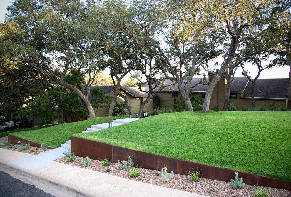 Front yard landscaping landscape modern interesting ideas with outdoor living concrete sidewalk