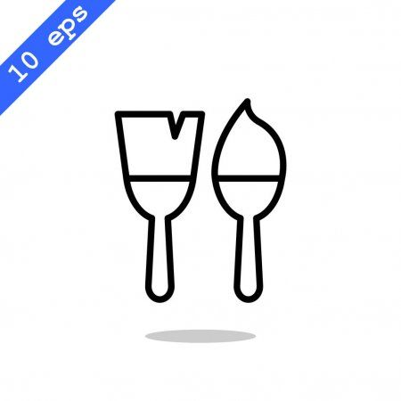 Painting brushes icon - Stock Vector , #sponsored, #brushes, #Painting, #icon, #Vector #AD