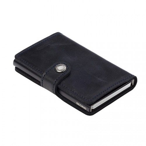 Secrid cardprotector mini wallet vintage black leather