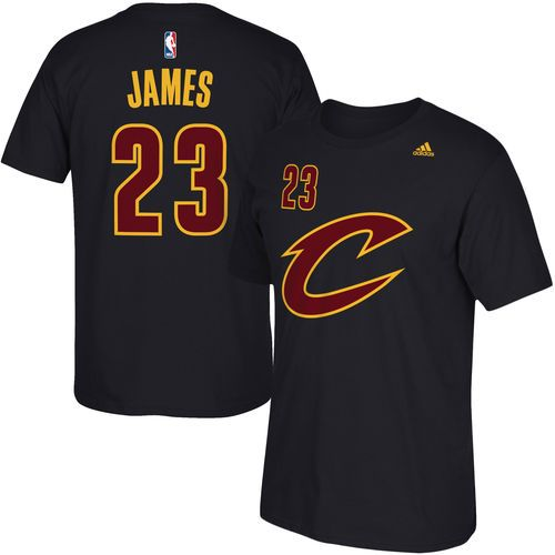 new product 3f56b 7bc42 Men's Cleveland Cavaliers LeBron James adidas Black Net ...