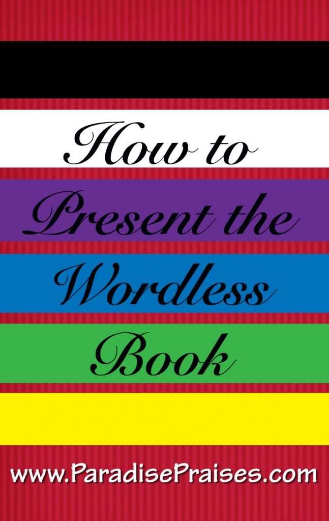 Sharing The Wordless Book Gospel Printable Wordless Book Bible