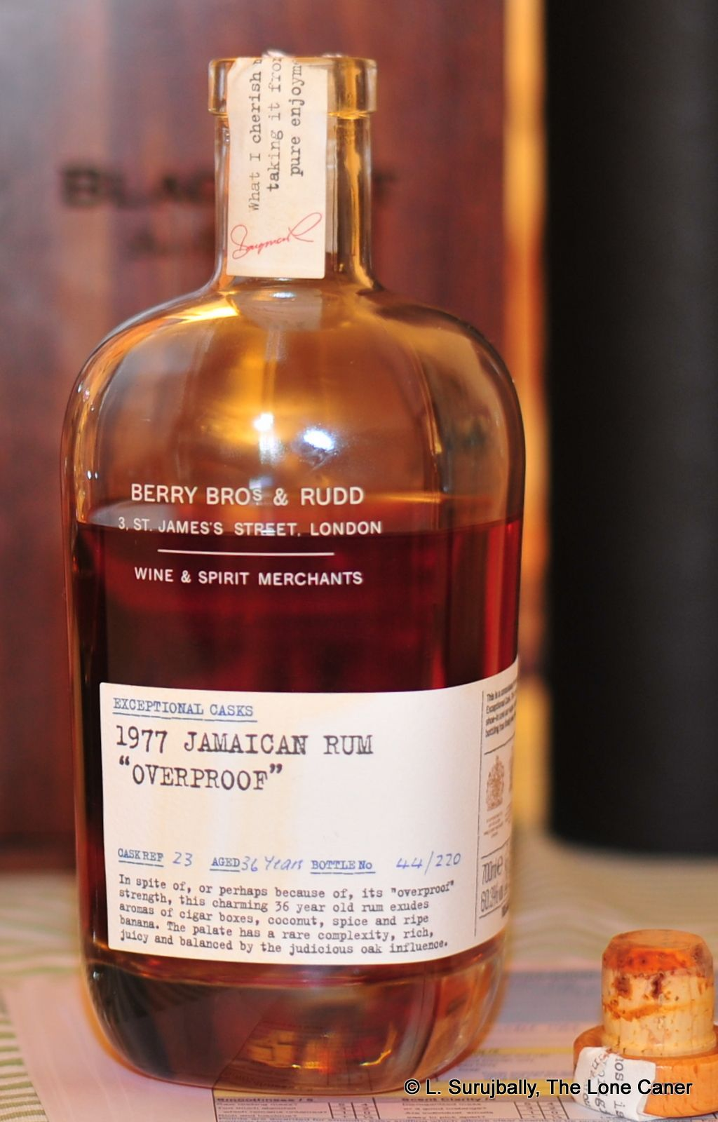 Berry Bros Rudd 1977 36 Year Old Jamaica Rum Licor Ron Cerveza