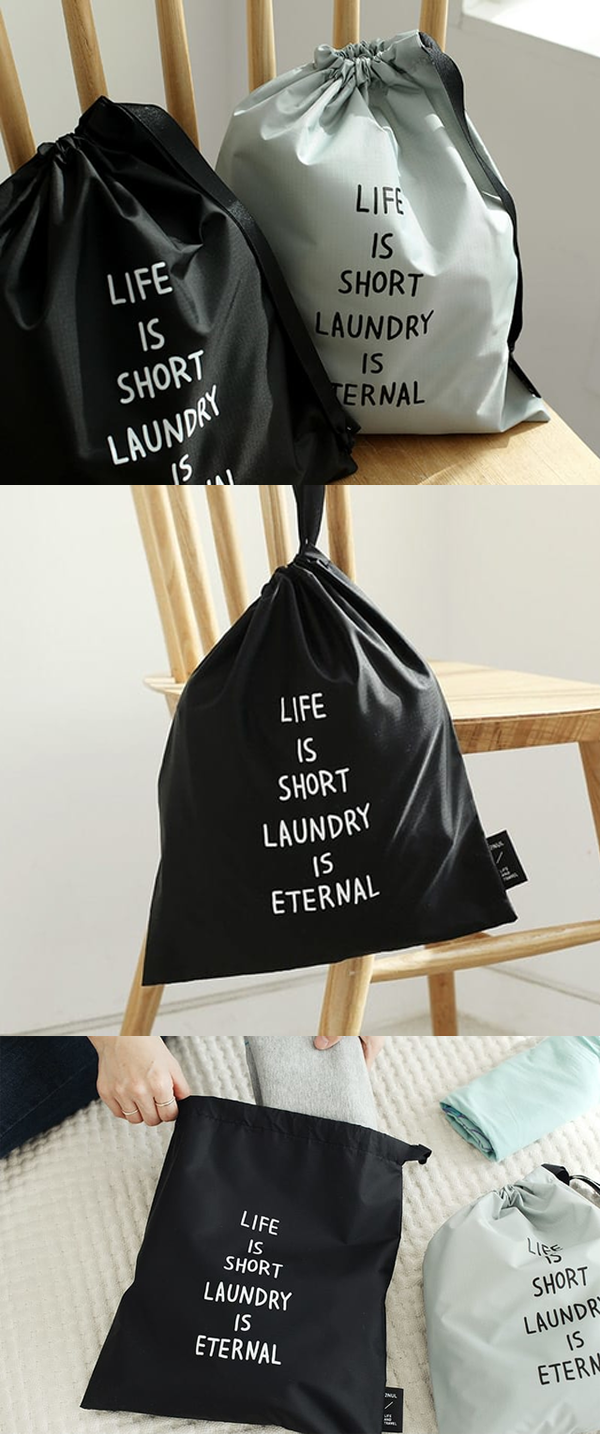 The Laundry Drawstring Pouch Is A Must Item For Any Travelers It S A Simple Water Resistant Laundry Bag With A Funny Laundry Pouch Diy Shirt Drawstring Pouch