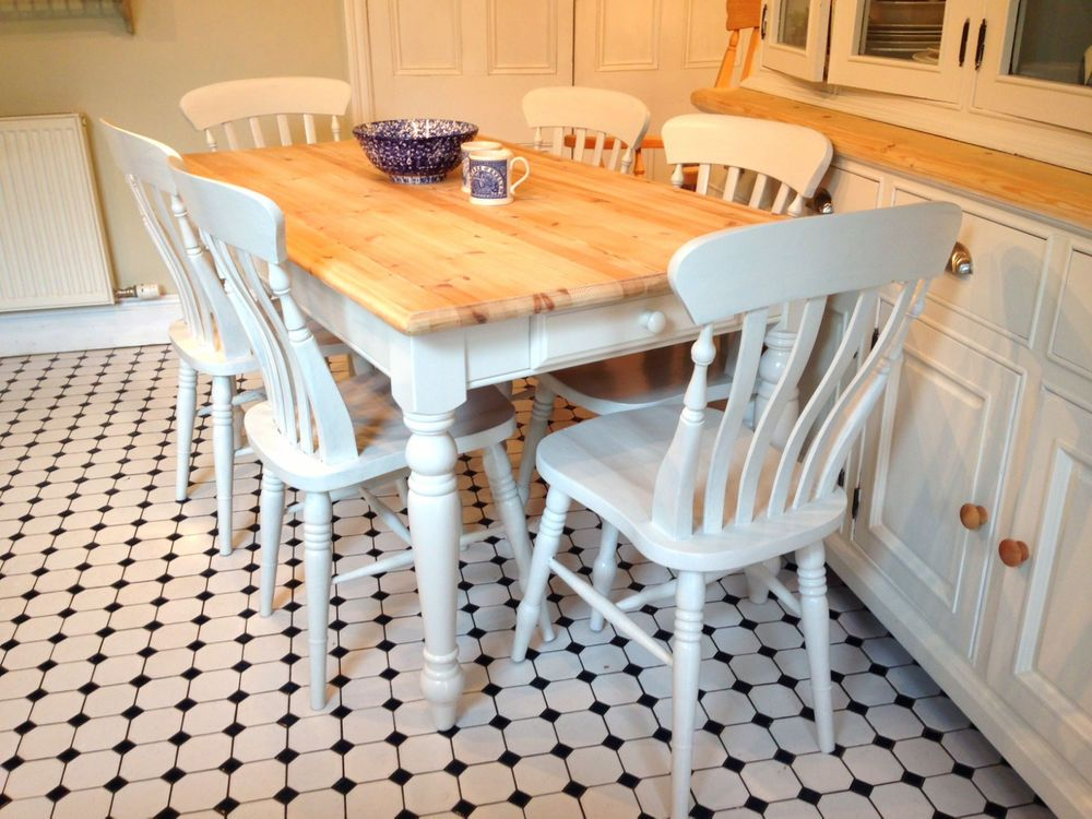 5Ft Shabby Chic Marks & Spencer Farmhouse Pine Dining Table & 6 Interesting Marks And Spencer Dining Room Furniture Decorating Inspiration