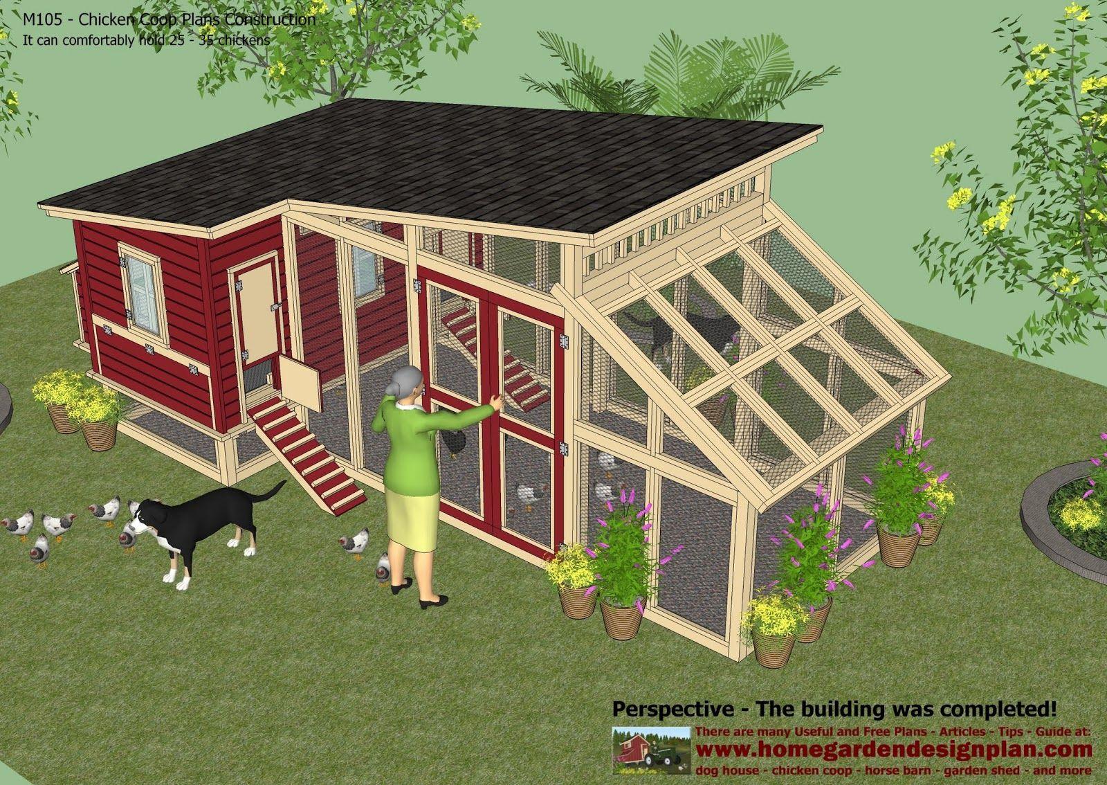 M105 Chicken Coop Plans Construction Chicken Coop Design How To Build A Chicken Coop