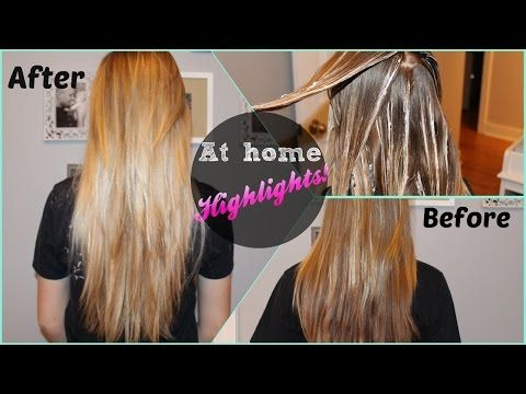 Diy At Home Highlights Revlon Frost Glow Youtube