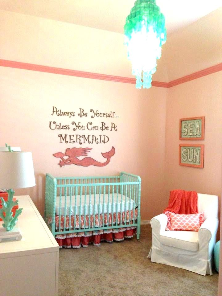 Mermaid chic nursery chic nursery nursery and mermaid for Nursery theme ideas