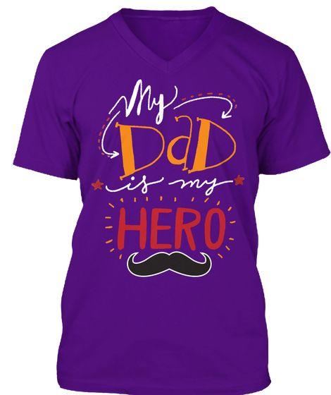 Daddy Hero!  Team Purple T-Shirt Front