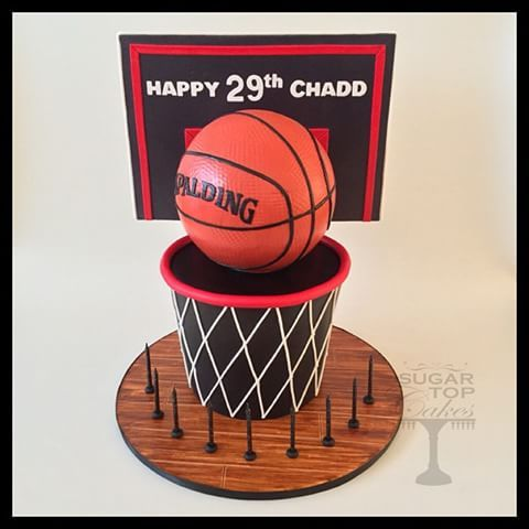 Basketball Cake this was super fun to make Happy 29th Birthday