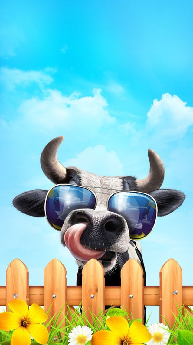 Pin By Luca On Wallpapers Cow Wallpaper Wallpaper Iphone Cute Cartoon Wallpaper Iphone