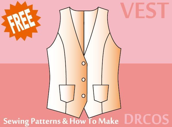 Vest sewing patterns & how to make | men vests | Pinterest | Sewing ...