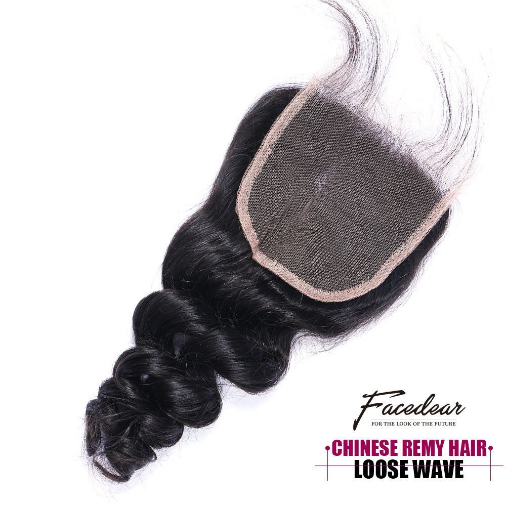 Natural Color Loose Wave Chinese Hair Closure Extension Clw02