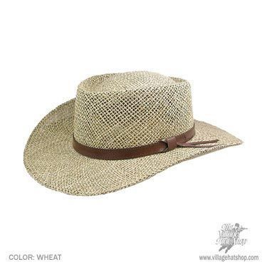 5875fad6c7bdb Seagrass Straw Gambler Hat available at  Brighton