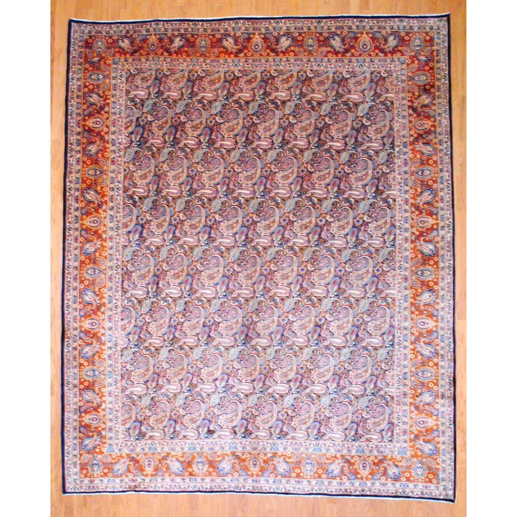 Herat Oriental Persian Hand Knotted Kashan Wool Rug 10 X 12 3