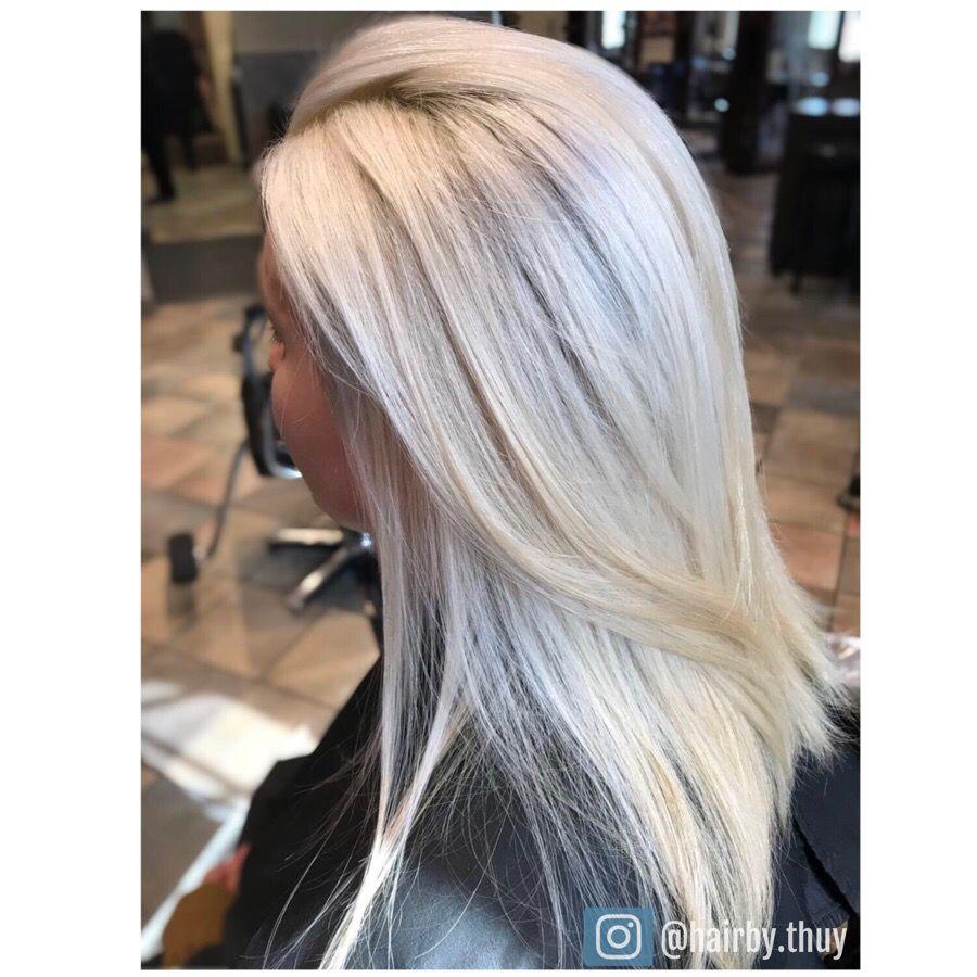 Blonde platinum blondehair hair enlightener hair pinterest