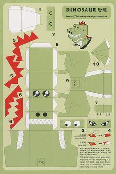 Dinosaur - Cut Out Postcard  91fc66b30a0