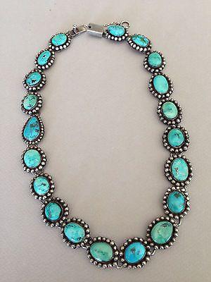Stunning FEDERICO JIMINEZ Vintage Turquoise Necklace 19 12