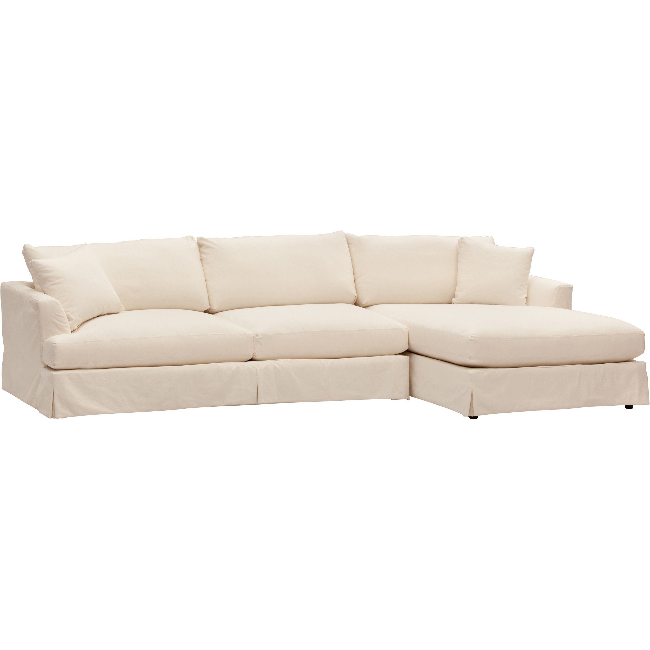 Andre Slipcover Sectional, Deso Snow | Future Projects ...
