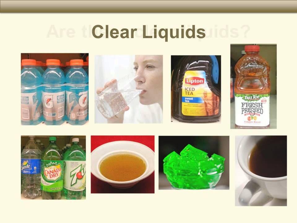 clear liquid diet fiber