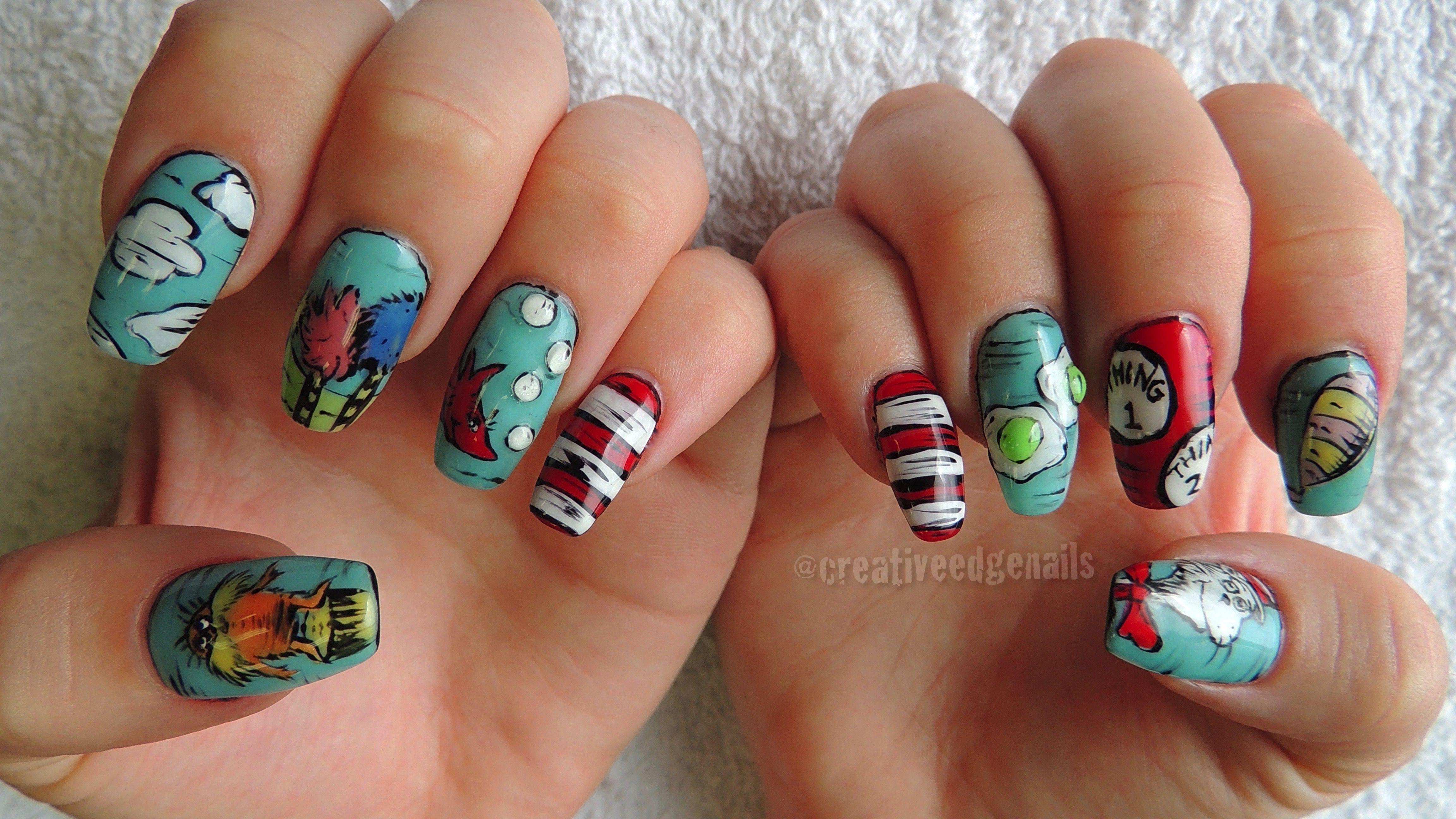 Dr Seuss Nails Nails Pinterest Makeup