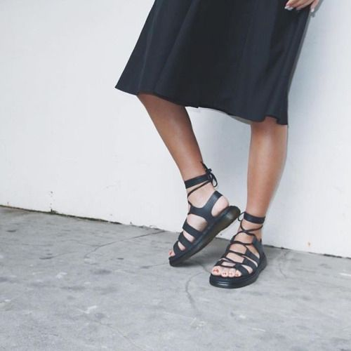 "drmartensofficial: "" Summer looks: the Kristina sandal in black. Shop  in-store"