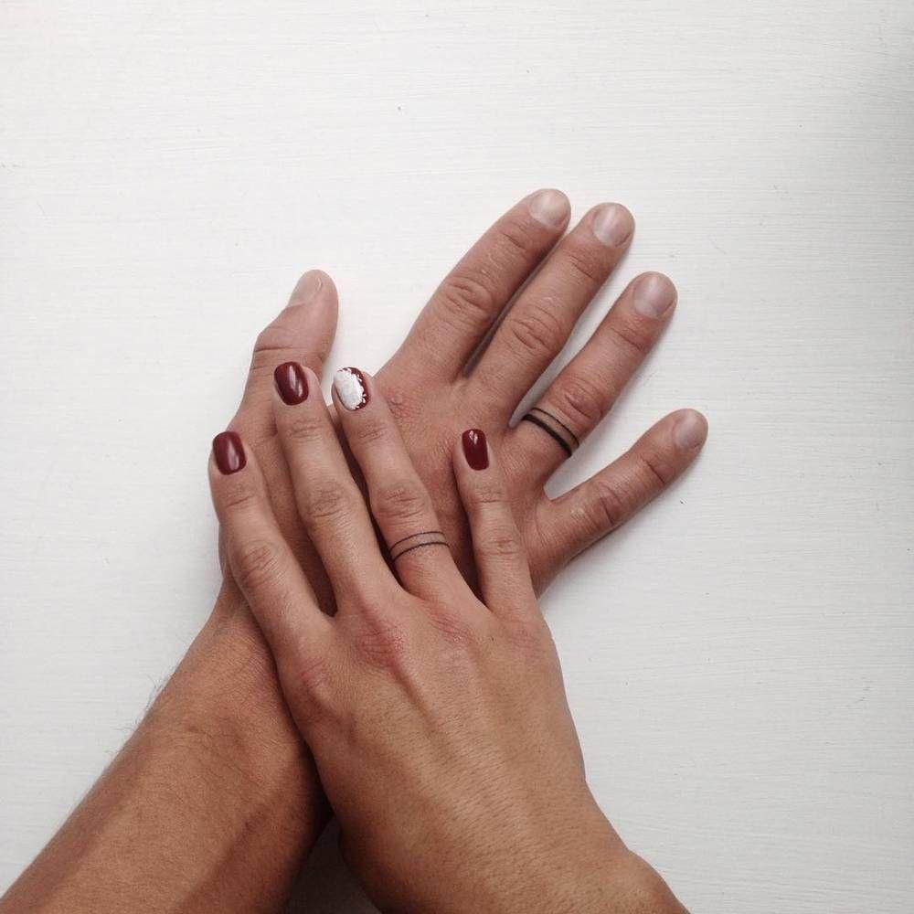Stickandpoketattoo: U201c Matching Wedding Ring Tattoos. Tattoo Artist: Ann  Pokes U201d