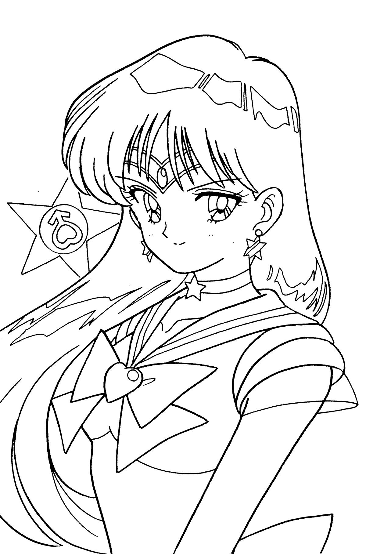 Mars011 Jpg 1200 1818 Sailor Moon Coloring Pages Sailor Moon